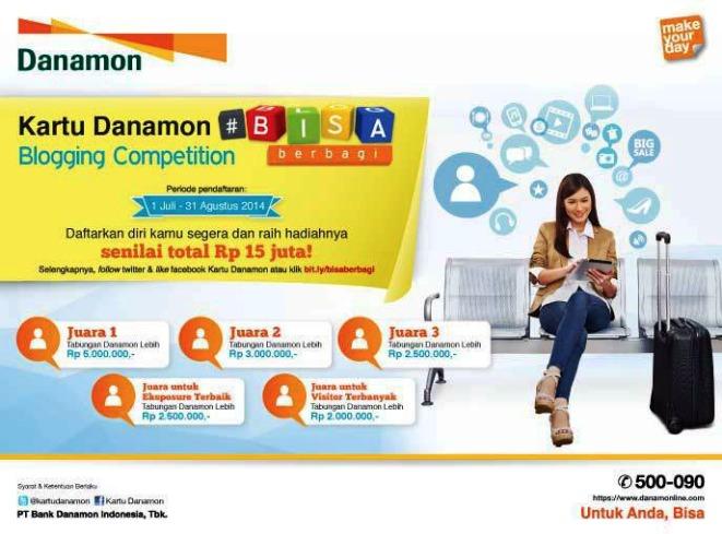 Promo Kartu Danamon MLG coffee Bisa Berbagi Blog Contest