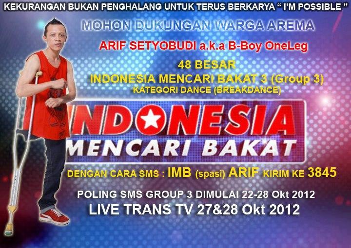 IMB Indonesia Mencari Bakat - Arif Setyo Budi MLG coffee shop B-Boy Dance Piramid Soulz